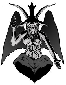 Illustration of Baphomet by Alan Davis